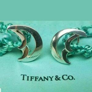 Tiffany &Co Sterling Silver half moon earrings